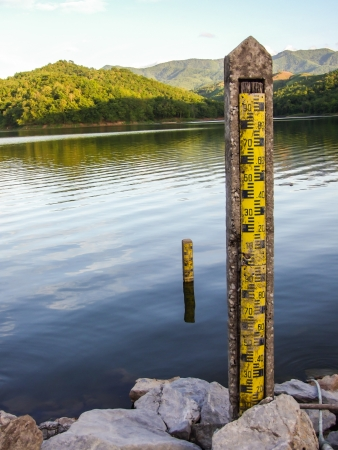 water level indicators at dam Stock Photo - 21849363