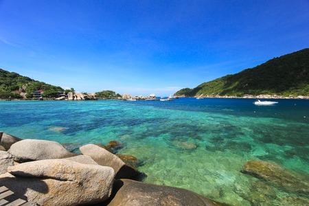 nang: Blue Sea at Nang Yuan Island Stock Photo