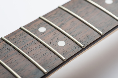 frets: Guitar frets without strings