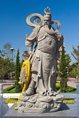 The sculpture of   chinese warrior