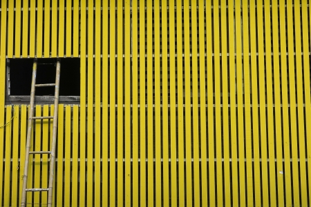 Yellow wooden wall photo