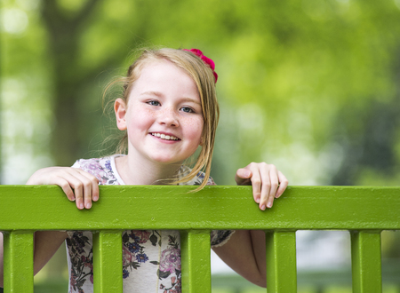 UK, Warwickshire, Rugby, Portrait of happy girl (8-9) LANG_EVOIMAGES
