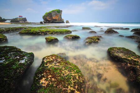 Indonesia, Yogyakarta region, Pantai Kukup Beach