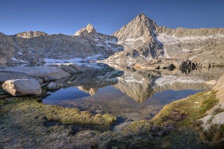 USA, California, Sequoia National Park, Sawtooth Peak reflected in Columbine Lake LANG_EVOIMAGES