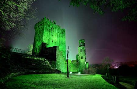 irish culture: Ireland, Munster, County Cork, Blarney, Blarney Castle at Saint Patricks day
