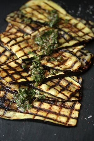 caper: USA, New York State, New York City, Grilled Eggplant