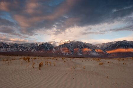 nevada: USA, California, Sunrise in Eastern Sierra Mountains LANG_EVOIMAGES
