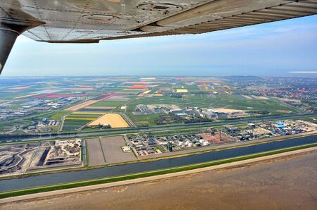patchwork: Holland, Aerial view of Den Helder airport