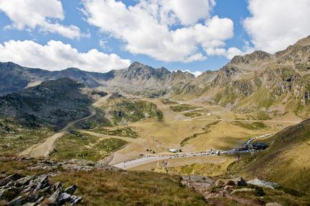 Andorra, View of Arcalis ski resort during summer