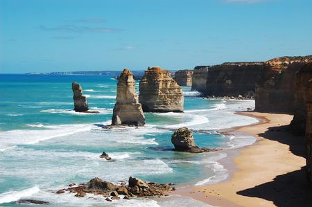 Australia, Victoria, View of Twelve Apostles Sea Rocks LANG_EVOIMAGES