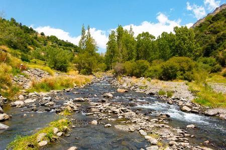 nevada: Spain, Granada, Sierra Nevada, River in mountain landscape LANG_EVOIMAGES