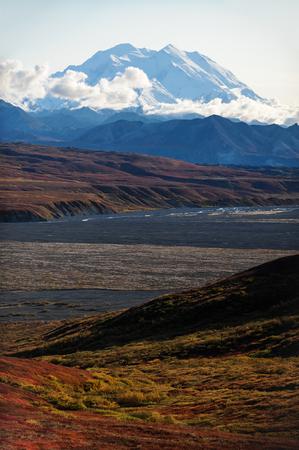 USA, Alaska, Denali National Park, Mount McKinleys peak LANG_EVOIMAGES