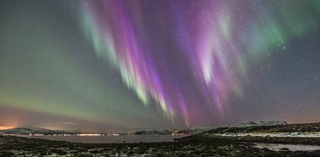 atmospheric phenomena: Purple Aurora, Stamnes, Sortland, Norway