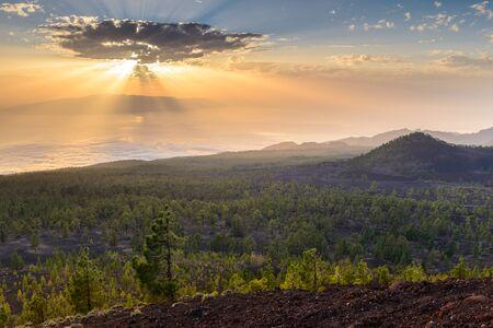 Spain, Canary Islands, Tenerife, Fascinating volcanic landscape