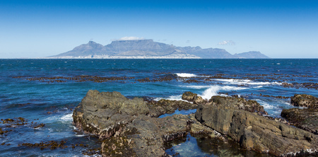robben island: Cape town seen from robben island, Western Cape, South Africa LANG_EVOIMAGES