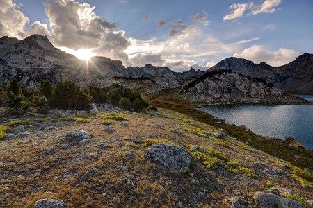 Sunset from the Baptiste Basin, Bridger-Teton National Forest, Wyoming, USA LANG_EVOIMAGES