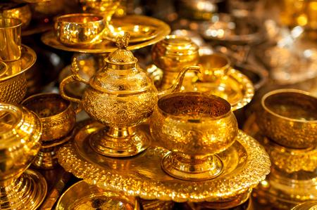 Gold merchandise, Yangon, Myanmar LANG_EVOIMAGES