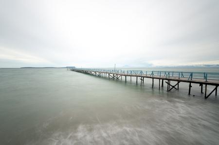 vanishing point: Wooden jetty, Kuala Penyu, Sabah, Malaysia