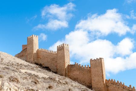 Fortified city wall, Albarracin, Teruel, Aragon, Spain