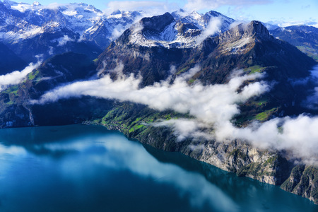 Mountain landscape, Stoos, Fronalpstock, Switzerland