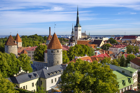 City skyline, Tallinn, Estonia