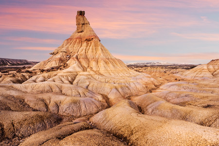 Fairy chimney, Bardenas Reales, Navarre, Spain LANG_EVOIMAGES