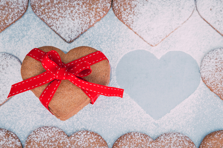 tied in: Heart shaped cookies for Valentines Day