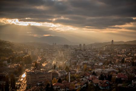 City skyline, Sarajevo, Bosnia and Herzegovina LANG_EVOIMAGES