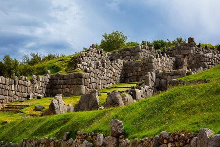 The Walls of Saksaywaman citadel, Cusco Region, Peru