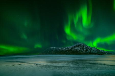 atmospheric phenomena: Northern lights, Lofoten, Nordland, Norway