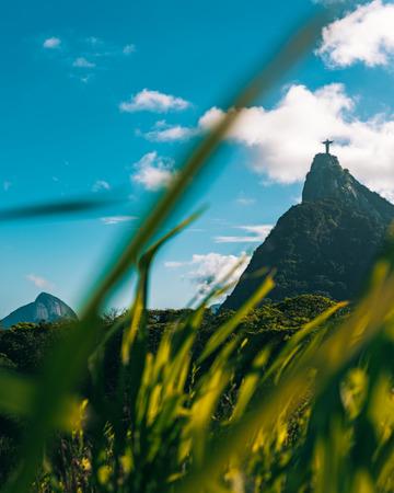 Distant view of Christ the Redeemer, Rio de Janeiro, Brazil