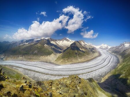 Aletsch Glacier,Eggishorn,Switzerland LANG_EVOIMAGES