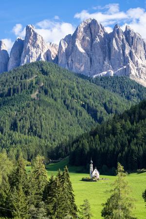 Church, Santa Magdalena, Funes, Trentino-Alto Adige, Italy