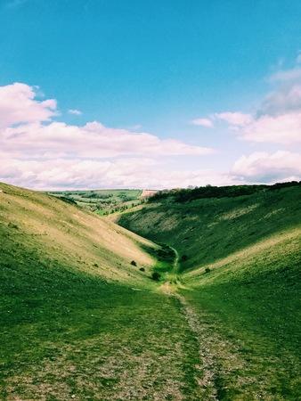 Rural landscape, Devils Dyke, South Downs, West Sussex, England, UK
