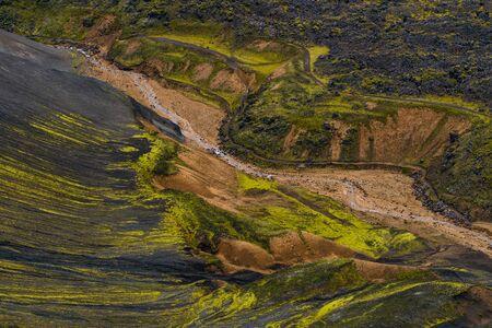 Landmannalaugar, Laugahraun lava field, Fjallabak Nature Reserve, Iceland