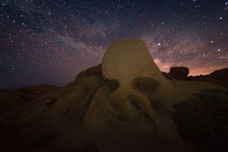 Skull Rock Against The Night Sky Joshua Tree National Park