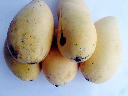 isolated: Mango fruit isolated on white background