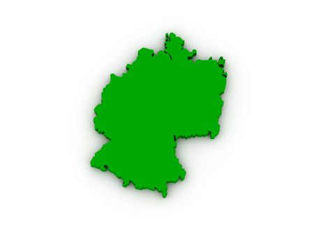 deutsch: Lands of Germany on white background. High quality 3d render. Stock Photo