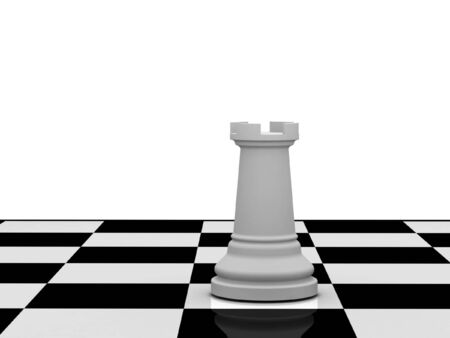 battling: White chess queen on chessboard on white background. High quality 3d render.
