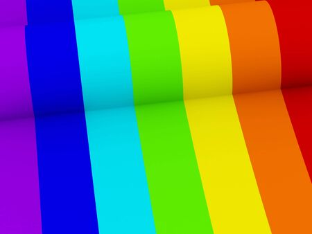 Rainbow background. High quality 3d render. Stock Photo - 6729063