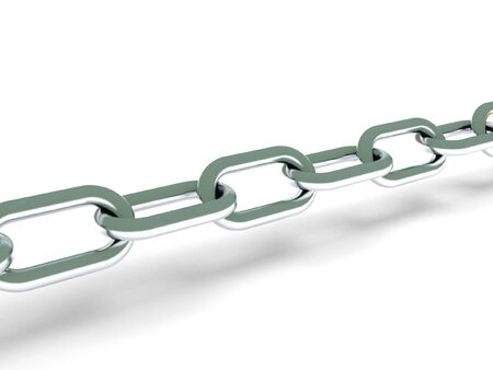 Steel chain isolated on white background. High quality 3d render. photo
