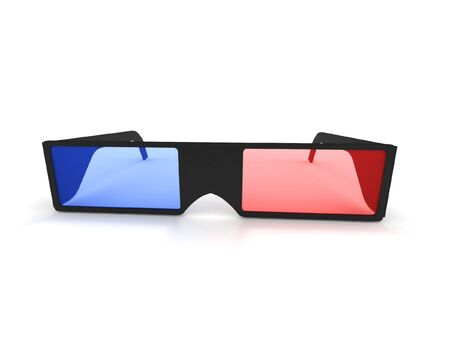 3D glasses isolated on white background. High quality 3d render. Stock Photo