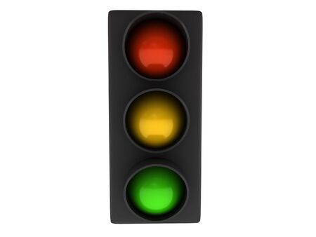 Traffic light isolated on white background. High quality 3d render. Stock Photo - 7380149