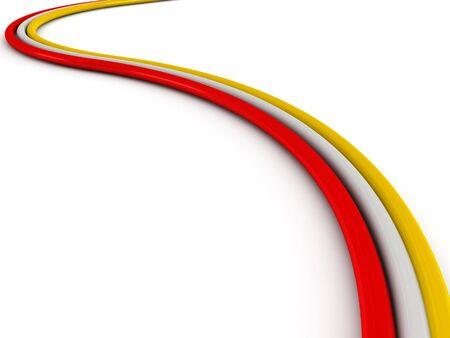fibra �ptica: Cable color aislado sobre fondo blanco. Procesamiento de 3d de alta calidad. Foto de archivo