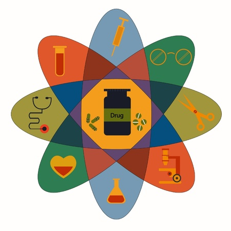 Medicine and tool icon Vector