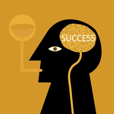 Thinking leads to success Vector