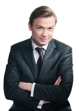 handsom: Aislados en blanco handsom joven hombre vistiendo traje formal
