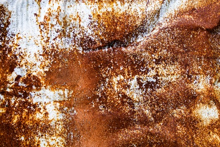 Rusty metal surface with rich and various texture photo
