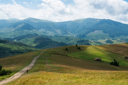 Summer landscape in the Ukrainian Carpathian Mountains. photo
