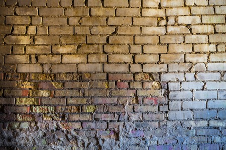 spattered: The old brick wall with rich texture Stock Photo